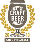 Gold Medal, 2019 Best of Craft Beer Awards