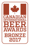 Bronze Medal, 2017 Canadian International Beer Award Winners
