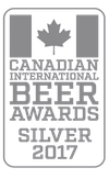 Silver Medal, 2017 Canadian International Beer Award Winners