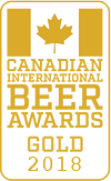 Gold Medal, 2018 Canadian International Beer Awards