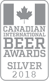Silver Medal, 2018 Canadian International Beer Awards