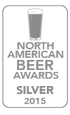 Silver Medal, 2015 North American Beer Awards