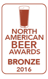 Bronze Medal, 2016 North American Beer Awards