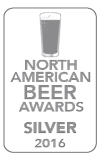 Silver Medal, 2016 North American Beer Awards