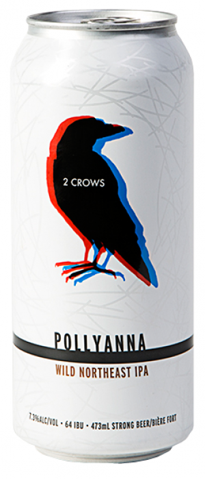 Pollyanna Wild Northeastern IPA by 2 Crows Brewing Co. in Nova Scotia, Canada