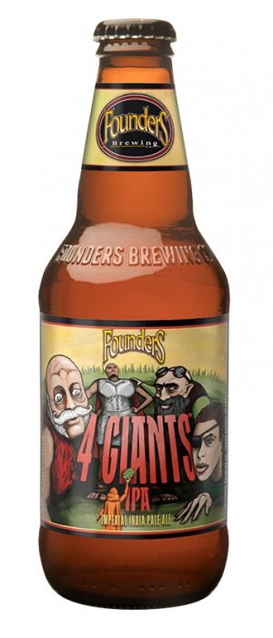 4 Giants IPA by Founders Brewing Company in Michigan, United States