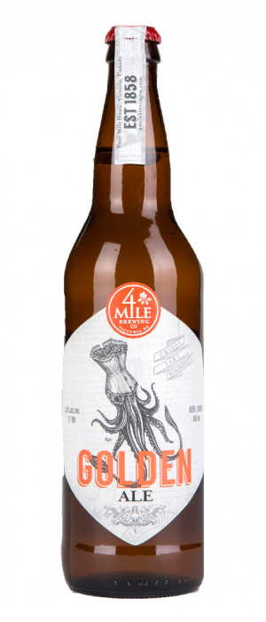 4 Mile Golden Ale by 4 Mile Brewing Company in British Columbia, Canada