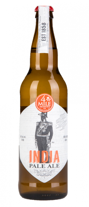 4 Mile IPA by 4 Mile Brewing Company in British Columbia, Canada