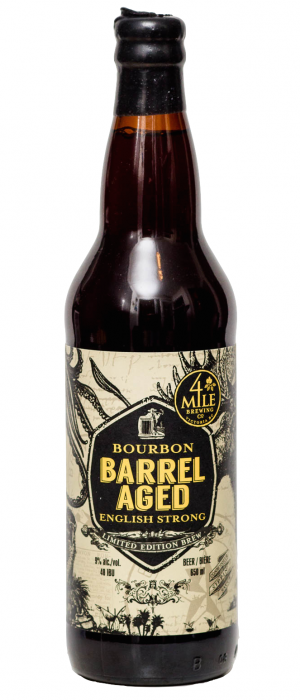 Bourbon Barrel Aged English Strong by 4 Mile Brewing Company in British Columbia, Canada