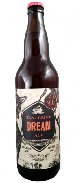Tangerine Dream Ale by 4 Mile Brewing Company in British Columbia, Canada