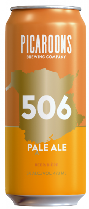506 Pale Ale by Picaroons Traditional Ales in New Brunswick, Canada