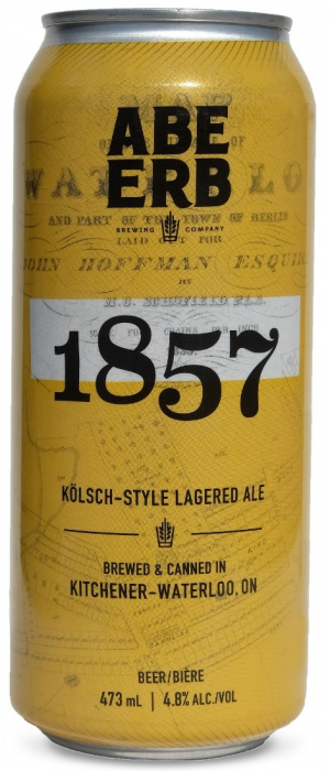1857 Kölsch by Abe Erb Brewing Company in Ontario, Canada