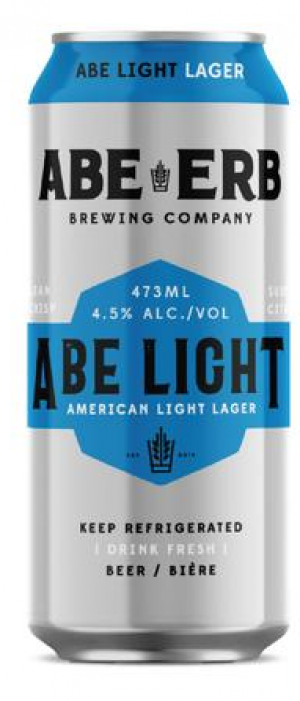 Abe Light by Abe Erb Brewing Company in Ontario, Canada