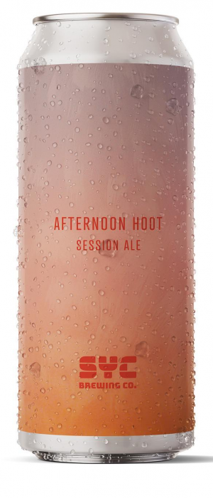 Afternoon Hoot Session Ale by S.Y.C. Brewing Co. in Alberta, Canada