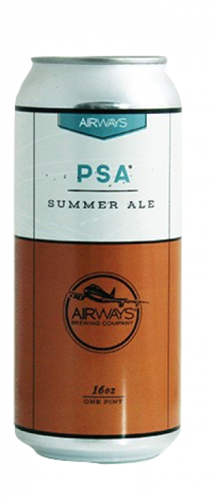 PSA Summer Ale by Airways Brewing in Washington, United States