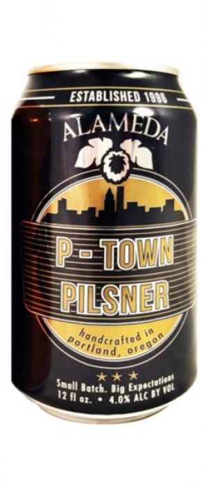 P-Town Pilsner by Alameda Brewhouse in Oregon, United States