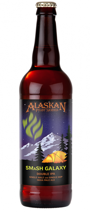 SMaSH Galaxy Double IPA by Alaskan Brewing Company in Alaska, United States