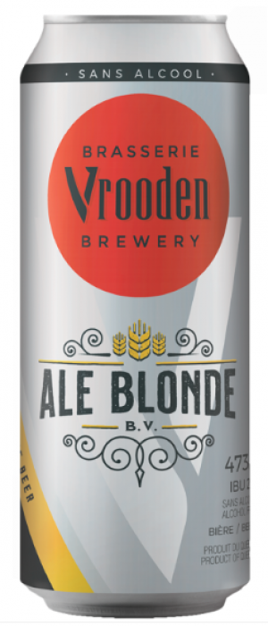 Ale blonde (Sans Alcool) by Brasserie Vrooden in Québec, Canada