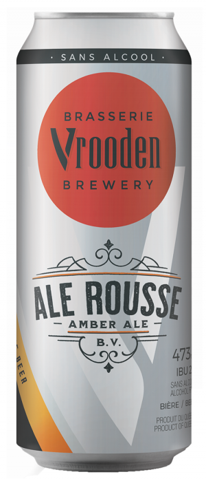 Ale Rousse (Sans Alcool) by Brasserie Vrooden in Québec, Canada