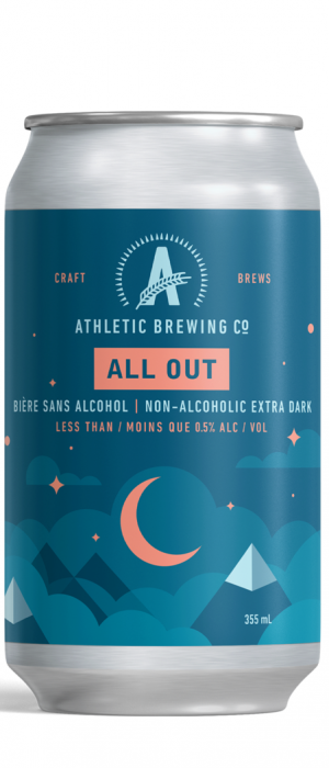 All Out Stout by Athletic Brewing Company in Connecticut, United States