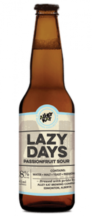 Lazy Days Passionfruit Sour by Alley Kat in Alberta, Canada