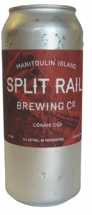 Amber Ale by Split Rail Brewing Company in Ontario, Canada