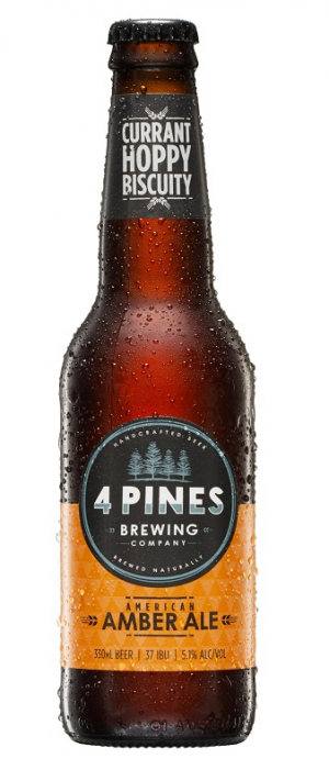 American Amber Ale by 4 Pines Brewing Company in New South Wales, Australia