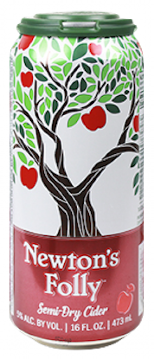 Newton's Folly Semi-Dry Cider by American Hard Cider Company in Vermont, United States