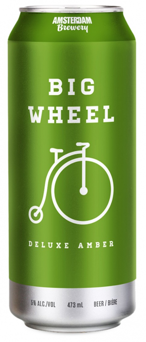 Big Wheel Amber by Amsterdam Brewing Company in Ontario, Canada