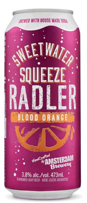 Blood Orange Radler by Amsterdam Brewing Company in Ontario, Canada