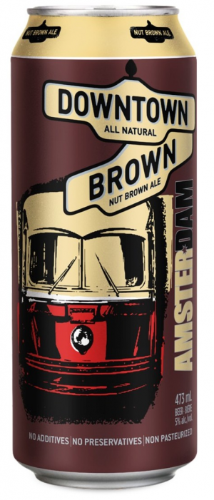 Downtown Brown Nut Ale by Amsterdam Brewing Company in Ontario, Canada