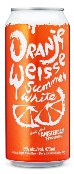 Oranje Weisse Summer Wheat by Amsterdam Brewing Company in Ontario, Canada