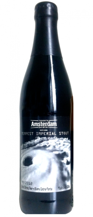 Tempest Imperial Stout by Amsterdam Brewing Company in Ontario, Canada