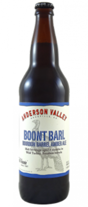 Boont Barl Bourbon Barrel Amber Ale by Anderson Valley Brewing Company in California, United States
