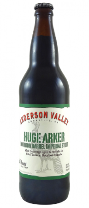 Huge Arker Bourbon Barrel Imperial Stout by Anderson Valley Brewing Company in California, United States
