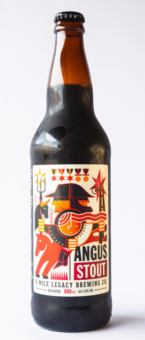 Angus Stout by 9 Mile Legacy Brewing Company in Saskatchewan, Canada