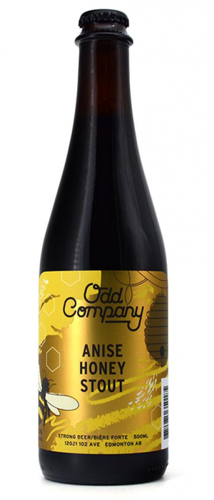 Anise Honey Stout by Odd Company Brewing in Alberta, Canada