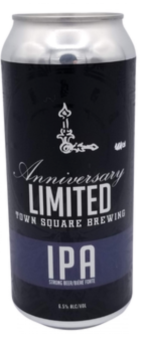 Anniversary Limited IPA by Town Square Brewing Co. in Alberta, Canada