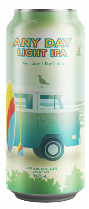 Any Day Light IPA by Side Launch Brewing Company in Ontario, Canada