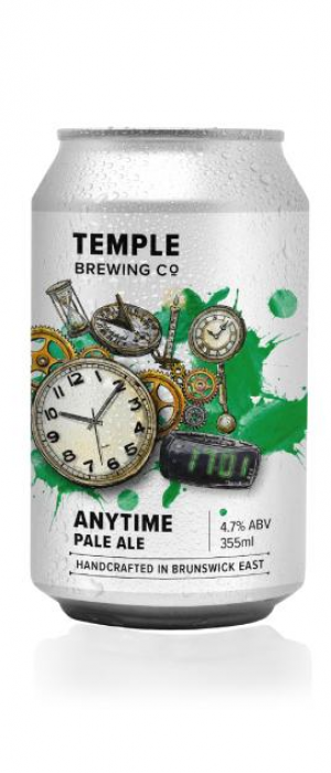 Anytime Pale Ale by Temple Brewing Co. in Victoria, Australia
