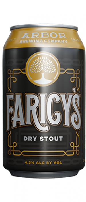 Faricy's Dry Stout by Arbor Brewing Company in Michigan, United States
