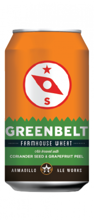 Greenbelt Farmhouse Wheat Ale by Armadillo Ale Works in Texas, United States