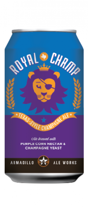 Royal Champ Texas-Style Champagne Ale by Armadillo Ale Works in Texas, United States