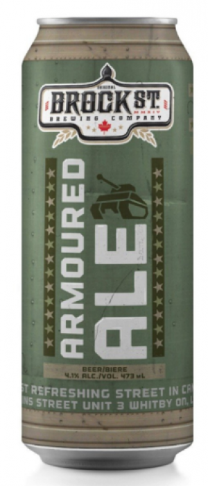 Armoured Ale by Brock Street Brewing Company in Ontario, Canada