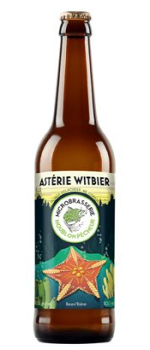 Astérie Witbier by Microbrasserie Houblon-Pêcheur in New Brunswick, Canada