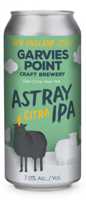 Astray Citra IPA by Garvies Point Brewery in New York, United States