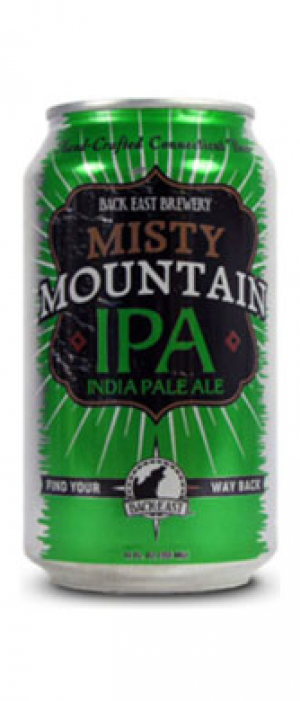 Misty Mountain IPA by Back East Brewing Company in Connecticut, United States