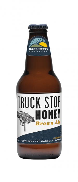 Truck Stop Honey Brown Ale by Back Forty Beer Company in Alabama, United States