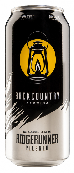 Ridgerunner Pilsner by Backcountry Brewing in British Columbia, Canada