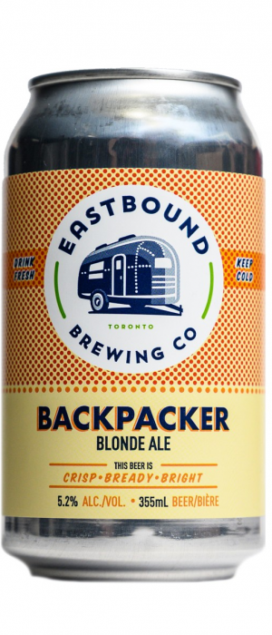 Backpacker Blonde Ale by Eastbound Brewing Company in Ontario, Canada